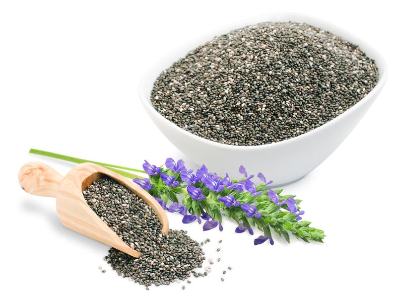 Hạt chia chứa rất ít calories nhưng lại chứa nhiều chất xơ và kali.