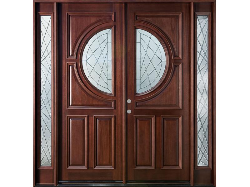 Mẫu cửa 2 cánh có gắn kính