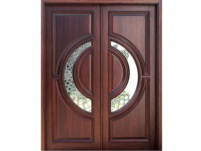 Mẫu cửa gỗ 2 cánh hiện đại