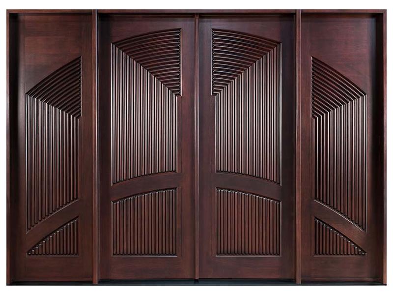 Top những mẫu cửa gỗ 4 cánh đẹp 2020 7