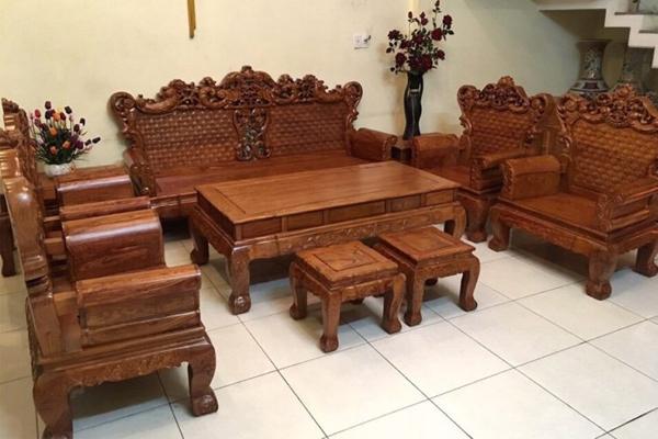 Bộ bàn ghế gỗ hương sang trọng