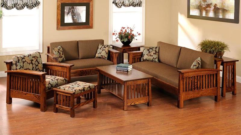 Bộ bàn ghế phòng khách phong cách đồng quê