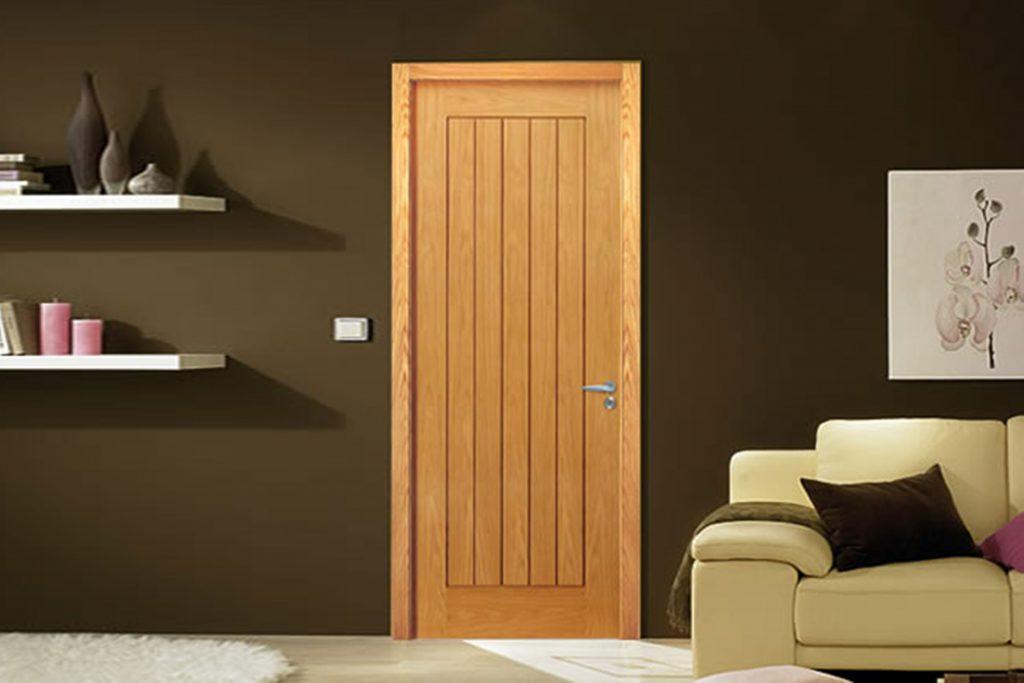 Mẫu cửa phòng gỗ đơn giản 1 cánh dùng cho phòng ngủ