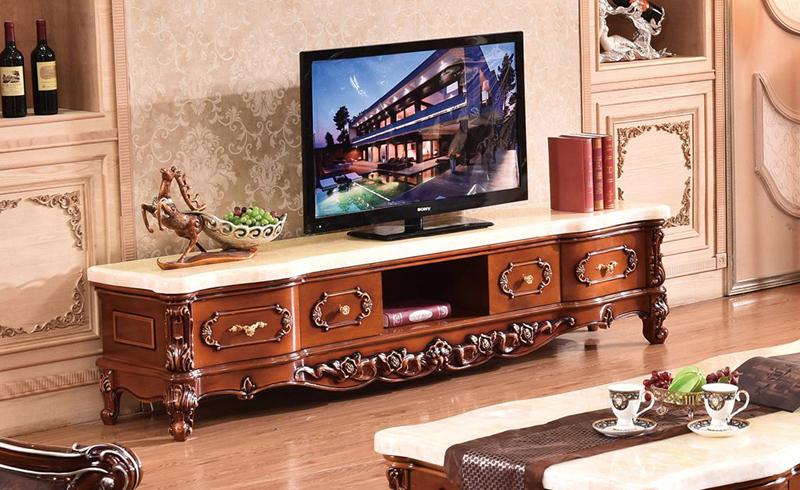 Mẫu kệ tivi gỗ mang phong cách cổ điển