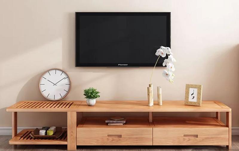 Mẫu kệ tivi gỗ thiết kế đơn giản