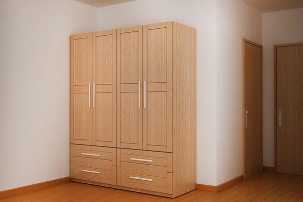 Mẫu tủ quần áo gỗ sồi Nga