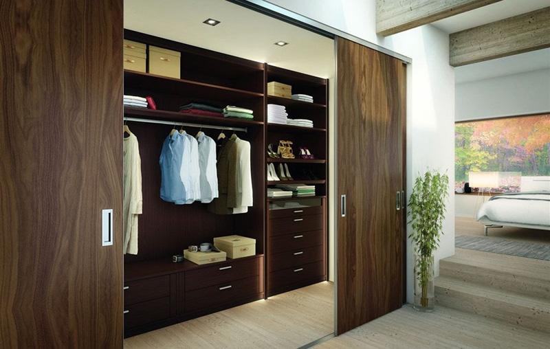 Tủ quần áo gỗ tự nhiên óc chó