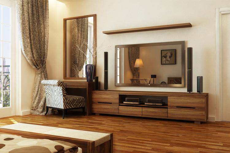 Tủ tivi làm từ gỗ óc chó.jpg