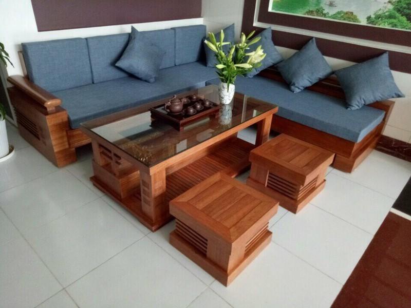 Bộ bàn ghế sofa gỗ đơn giản