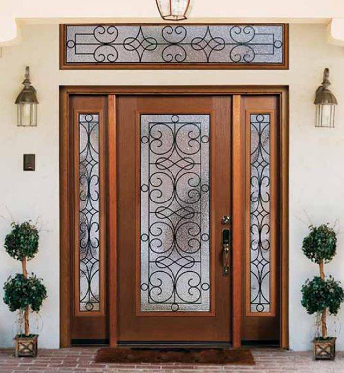Top 20+ mẫu cửa gỗ phòng khách đẹp 2020 11