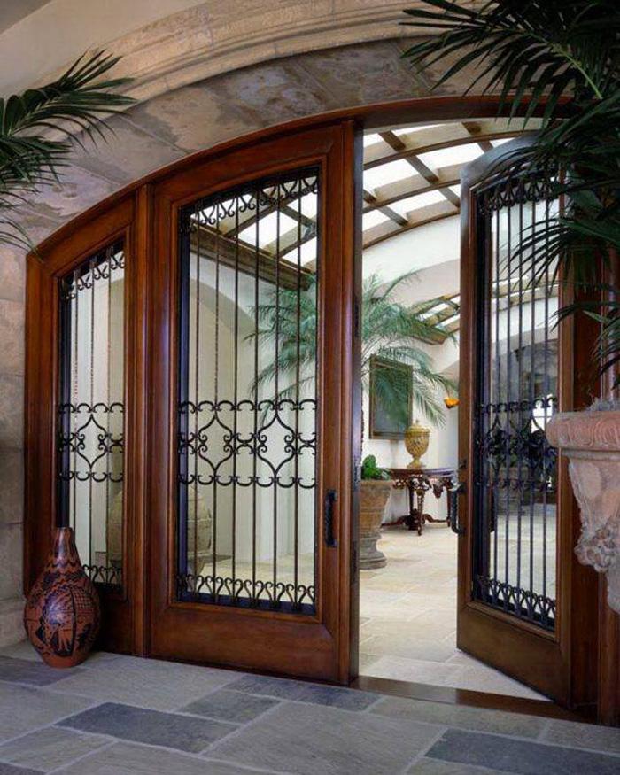 Top 20+ mẫu cửa gỗ phòng khách đẹp 2020 9