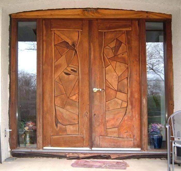 Top 20+ mẫu cửa gỗ phòng khách đẹp 2020 20
