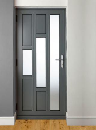 Mẫu cách cửa gỗ mun hiện đại