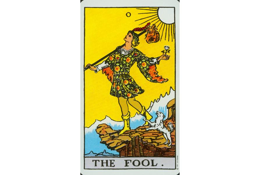 lá bài The Fool trong Tarot theo chuẩn Rider Waite Smith