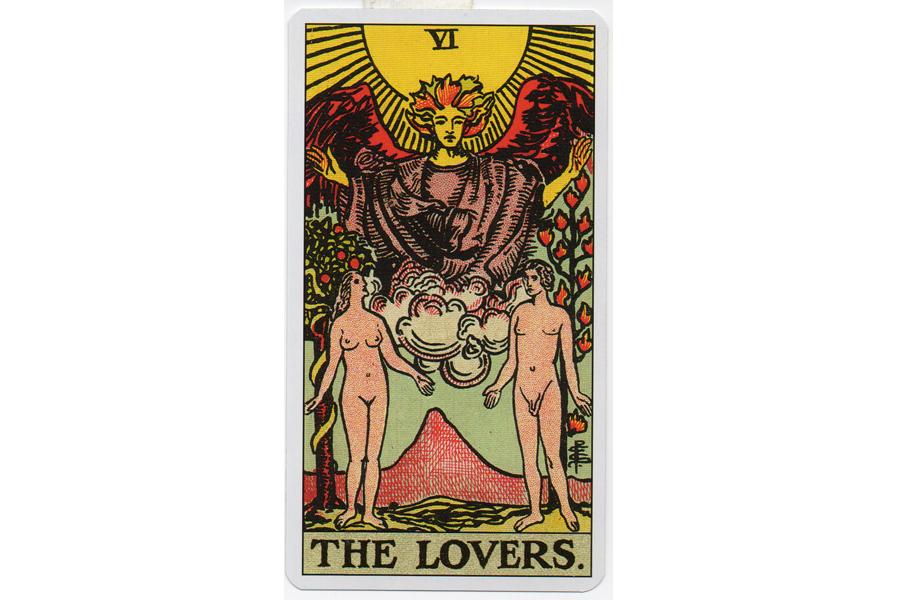 Lá bài The Lovers trong Tarot theo chuẩn Rider Waite Smith