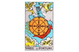 Ý nghĩa lá bài Wheel Of Fortune trong Tarot theo chuẩn Rider Waite Smith 2