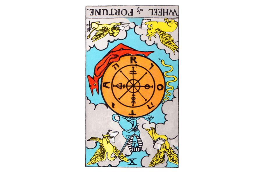 Ý nghĩa ngược của Wheel of Fortune