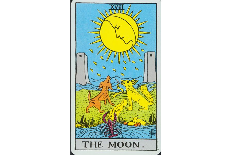 Lá bài The Moon trong Tarot theo chuẩn Rider Waite Smith