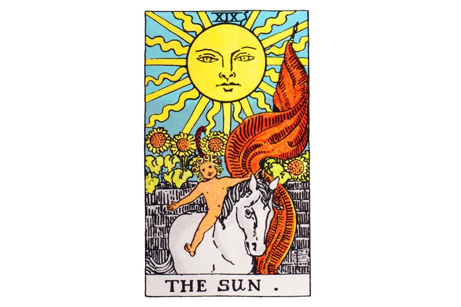 Lá bài The Sun trong Tarot theo chuẩn Rider Waite Smith