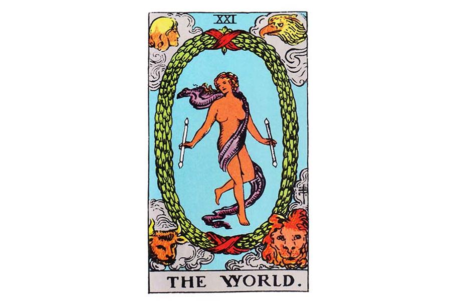 Lá bài The World trong Tarot theo chuẩn Rider Waite Smith