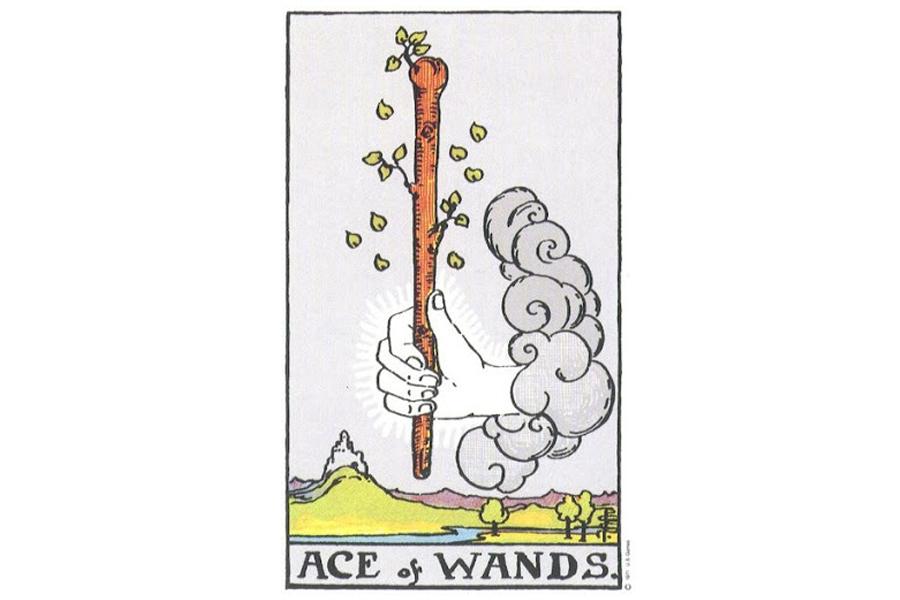 Lá bài Ace Of Wands trong Tarot theo chuẩn Rider Waite Smith
