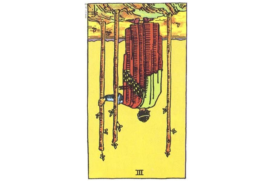 Ý nghĩa ngược của Three of Wands