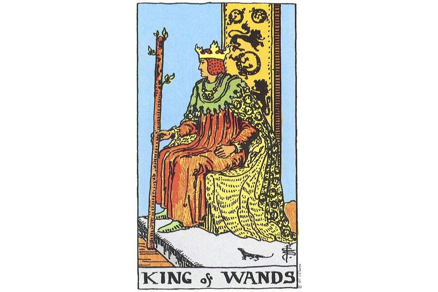 Ý nghĩa lá bài King Of Wands trong Tarot theo chuẩn Rider Waite Smith 1