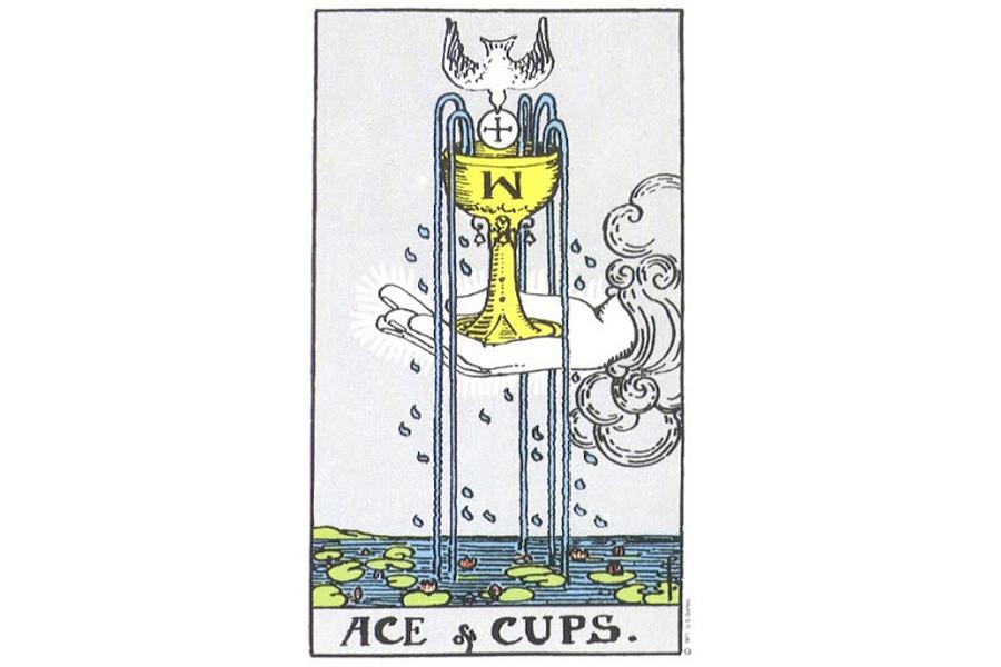 Lá bài Ace Of Cups trong Tarot theo chuẩn Rider Waite Smith