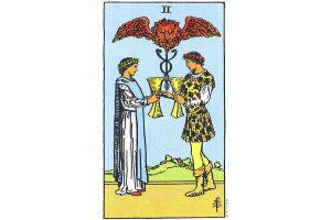 Ý nghĩa lá bài Two Of Cups trong Tarot theo chuẩn Rider Waite Smith 3