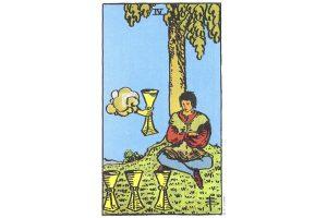 Ý nghĩa lá bài Four Of Cups trong Tarot theo chuẩn Rider Waite Smith 1