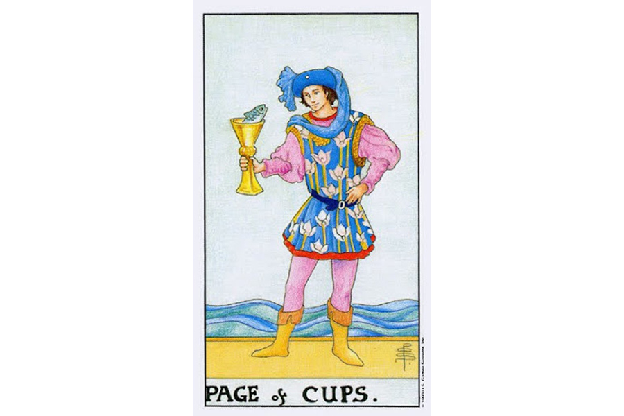 Lá bài Page Of Cups trong Tarot theo chuẩn Rider Waite Smith