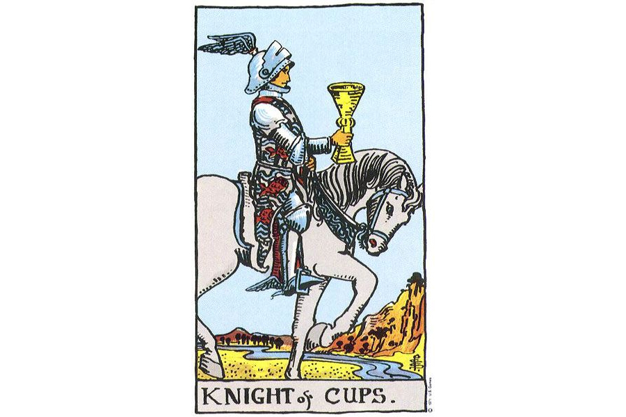 Lá bài Knight Of Cups trong Tarot theo chuẩn Rider Waite Smith