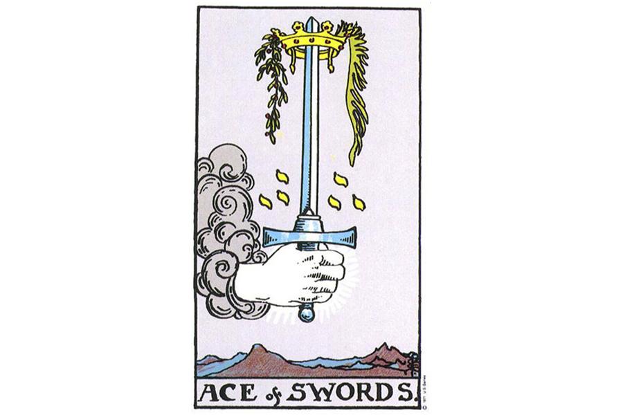 Lá bài Ace Of Swords trong Tarot theo chuẩn Rider Waite Smith