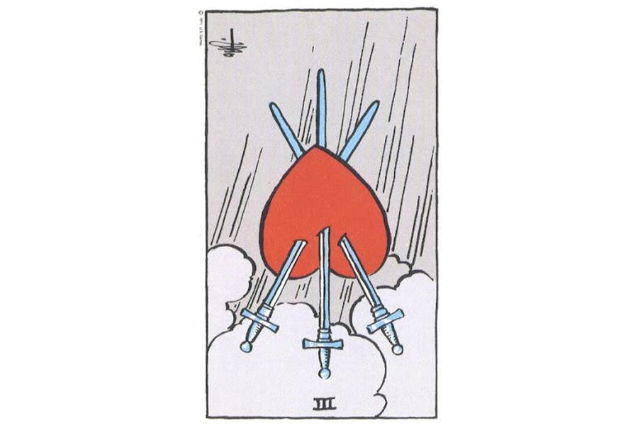 Ý nghĩa ngược của Three of Swords