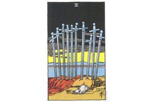 Ý nghĩa lá bài Ten Of Swords trong Tarot theo chuẩn Rider Waite Smith 10