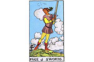 Ý nghĩa lá bài Page Of Swords trong Tarot theo chuẩn Rider Waite Smith 9