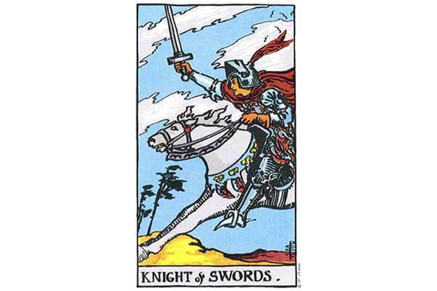 Ý nghĩa lá bài Knight Of Swords trong Tarot theo chuẩn Rider Waite Smith 3