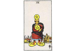 Ý nghĩa lá bài Four Of Pentacles trong Tarot theo chuẩn Rider Waite Smith 3