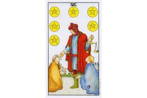 Ý nghĩa lá bài Six Of Pentacles trong Tarot theo chuẩn Rider Waite Smith 1