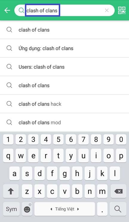 Cách tải game bằng Clash Of CLans APK