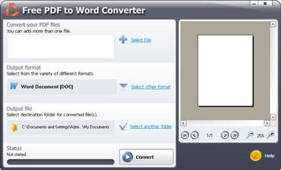 Phần mềm Free PDF to Word Doc Converter