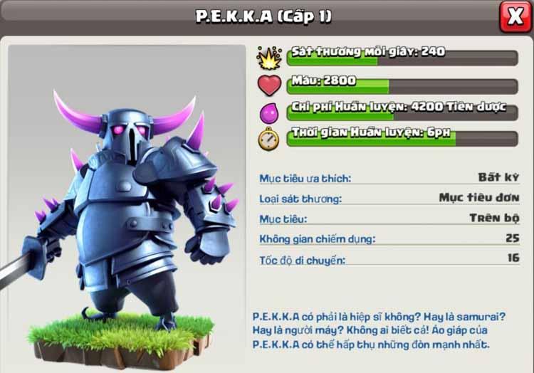 Pekka Clash of Clan hay P.E.K.K.A Clash of Clan 5