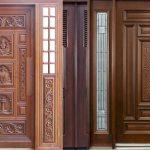 Mẫu cửa gỗ phòng khách đẹp