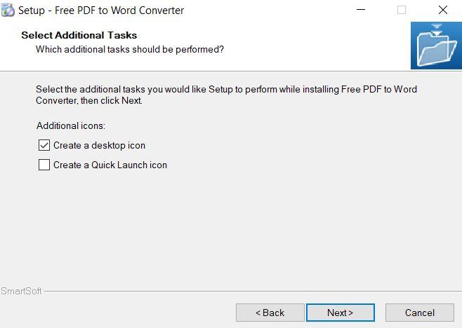 Chọn Create a desktop icon