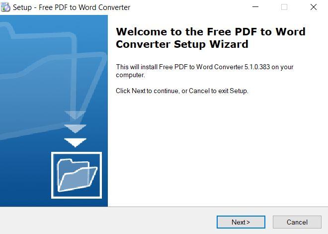 Phần mềm Free PDF to Word Converter