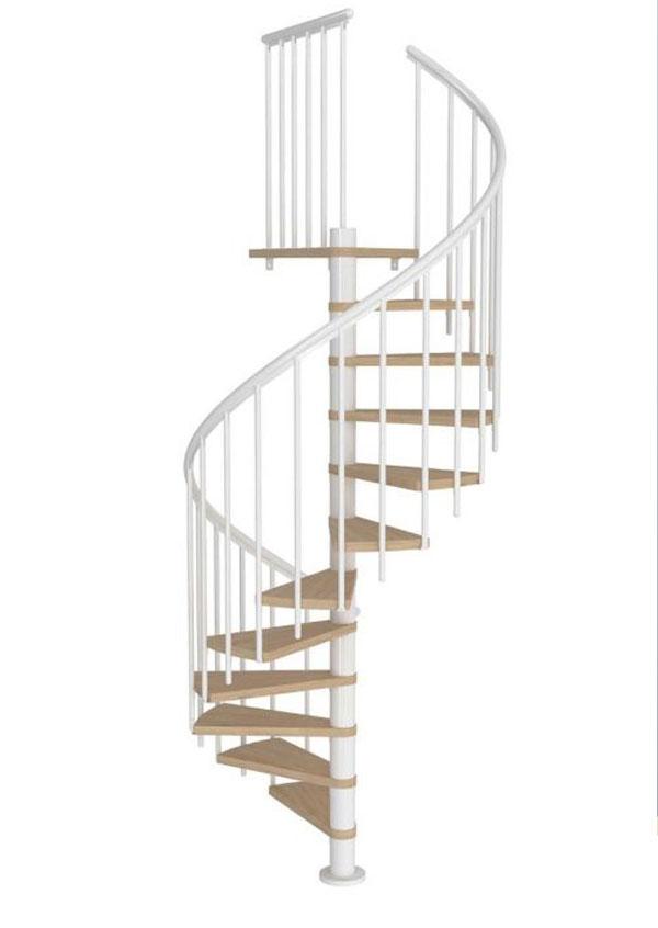 Mẫu cầu thang màu trắng đẹp và đơn giản