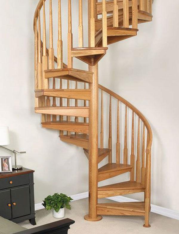 Mẫu cầu thang gỗ 100% làm bằng gỗ tự nhiên