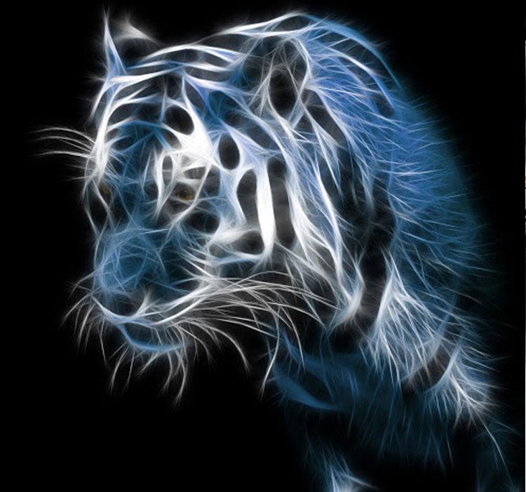 Hình ảnh đẹp 3D về hổ