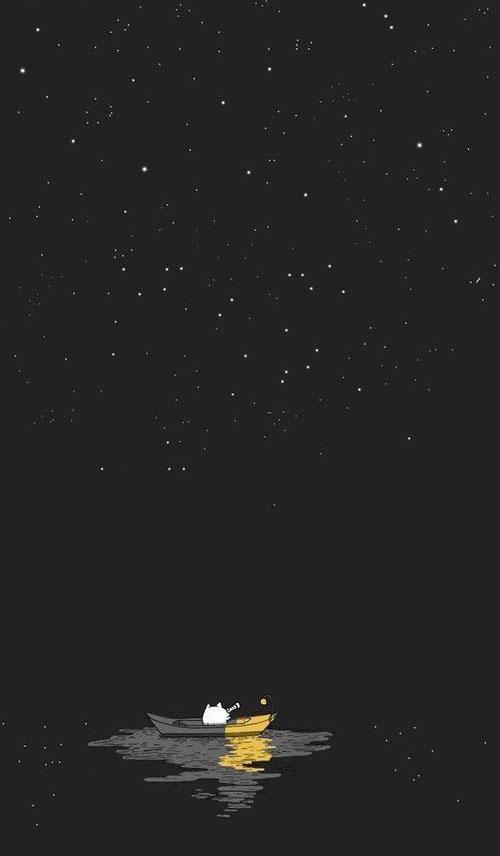 Hình nền đen đẹp dành cho điện thoại android