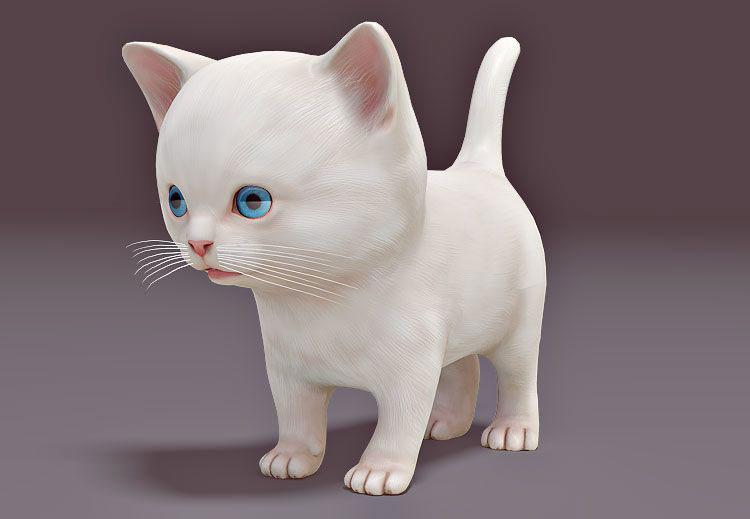 Mèo con 3d dễ thương